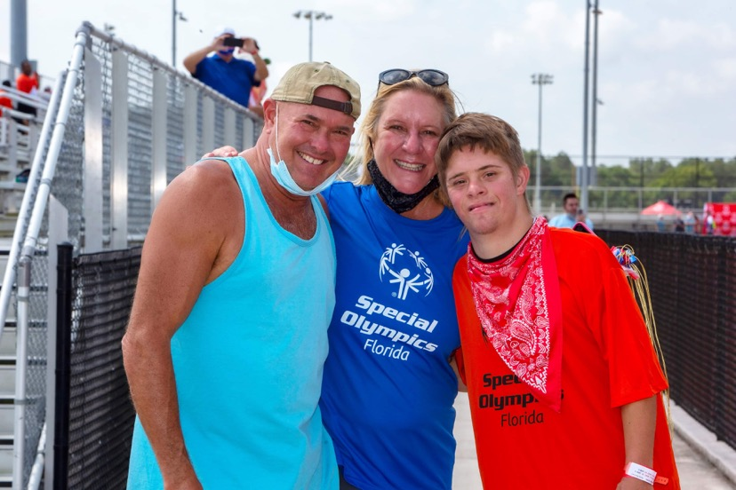Alec at the Special Olympics