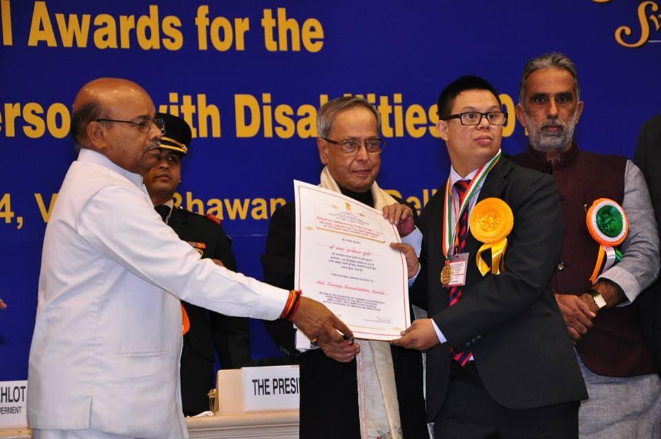 Pranay receiving a National award