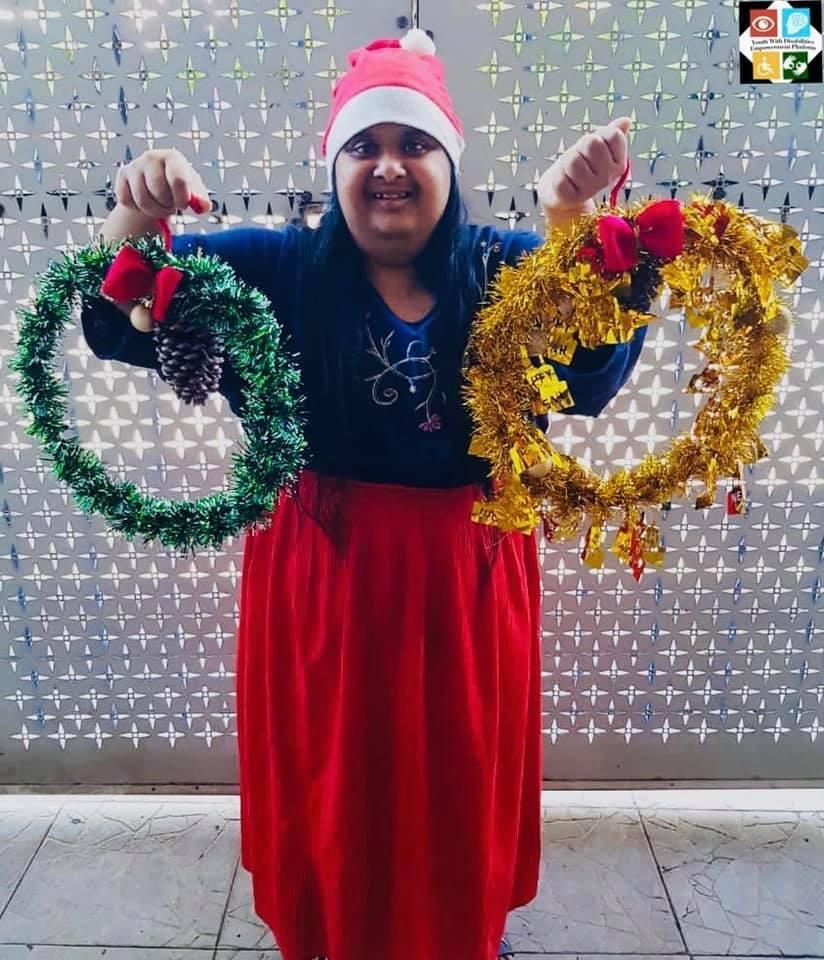 Farzana decorating for the festive season