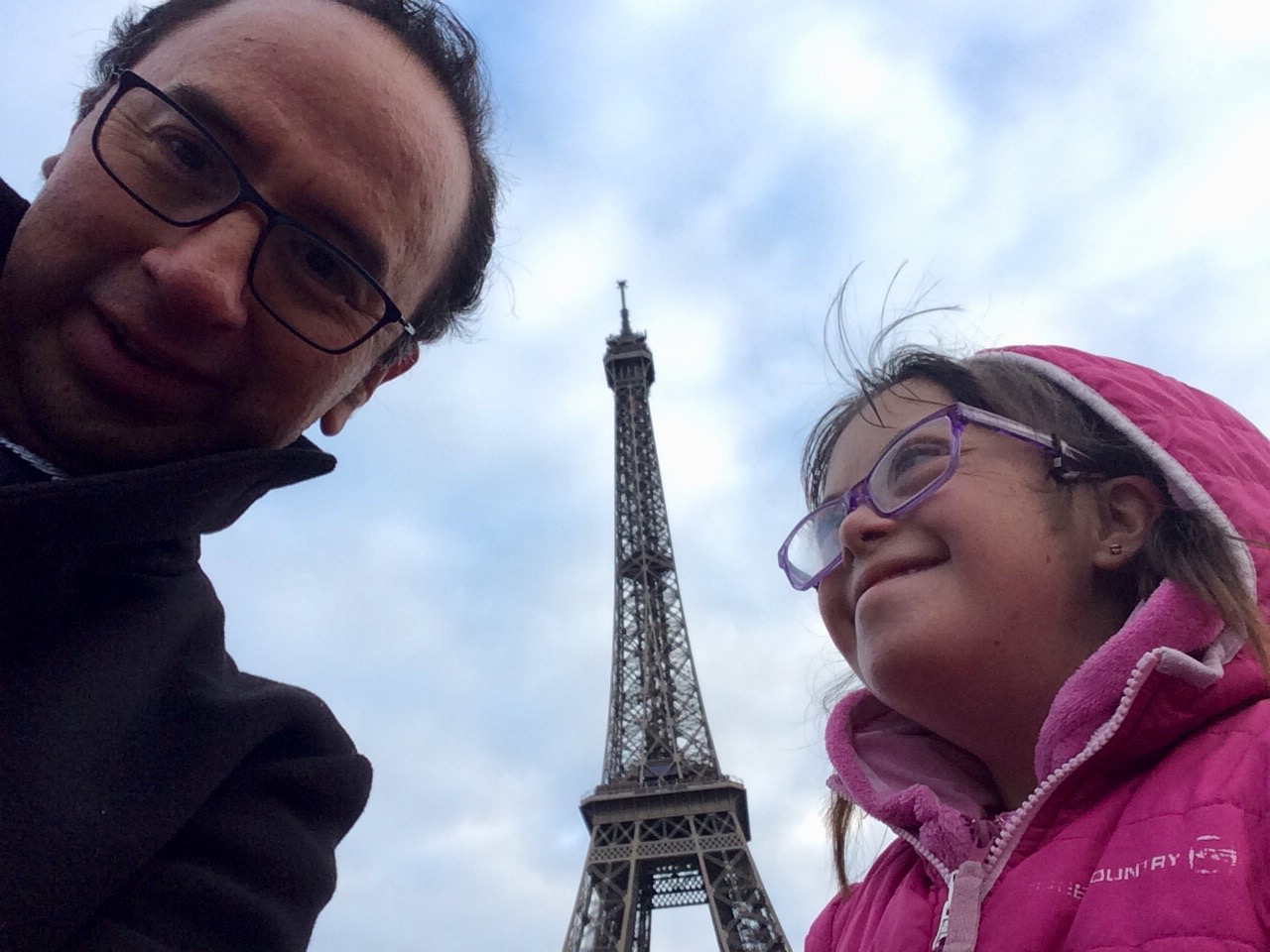 Sandra visiting Paris