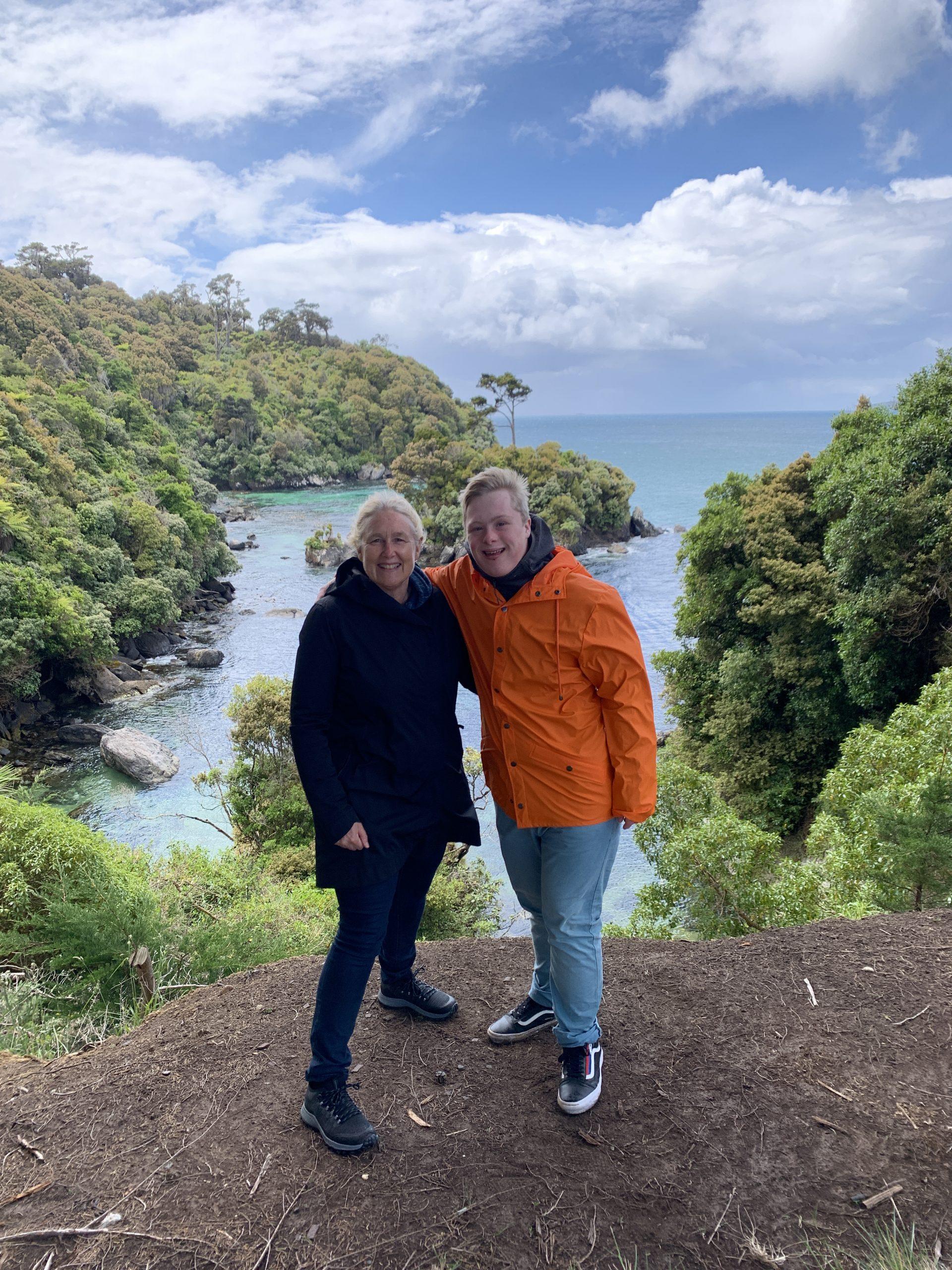 Luke exploring Stuart Island