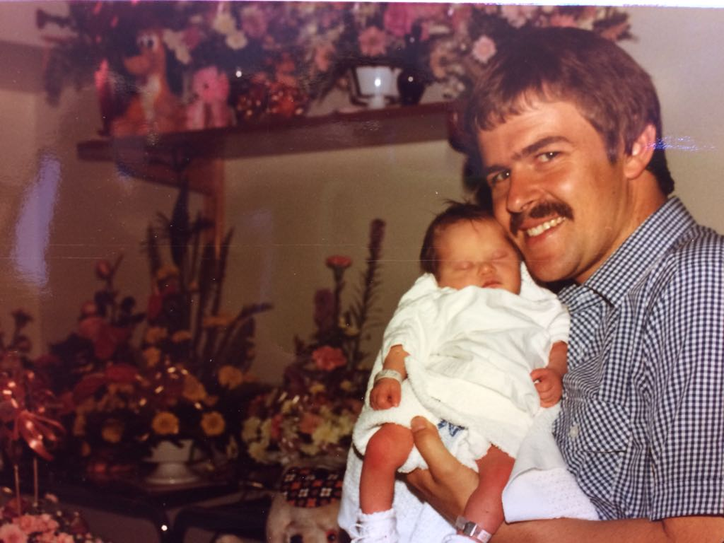 Sheri with her father