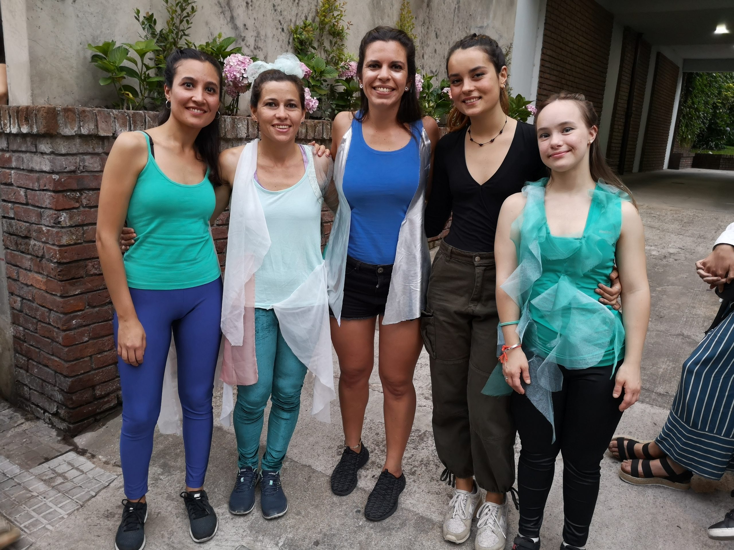 Magdalena with her dance group