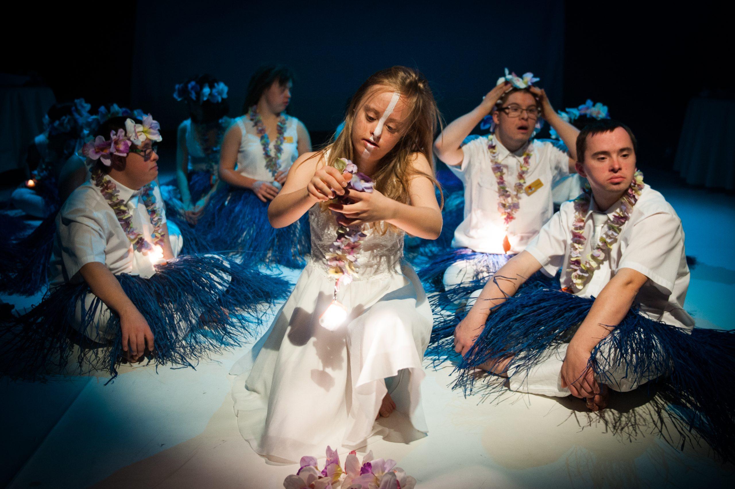 Maja on stage with Teatr21